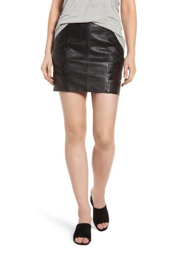 BLANKNYC High Waist Zip Miniskirt