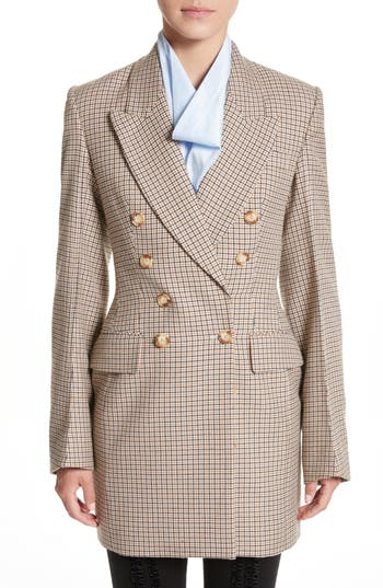 Stella McCartney Check Wool Do..