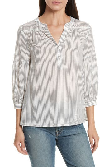 Joie Aldys Stripe Cotton T..