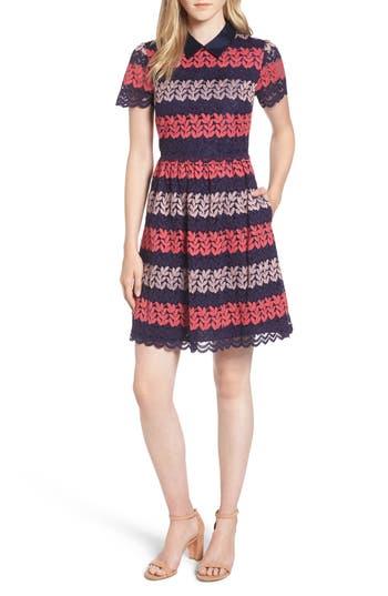 Draper James Ivy Lace Fit & Flare Dress