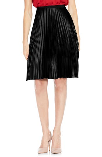 Vince Camuto Lacquered Pleated Skirt