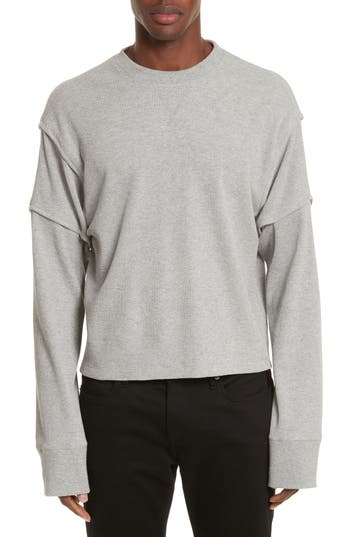 Military Panel Sleeve Thermal Shirt by Helmut Lang