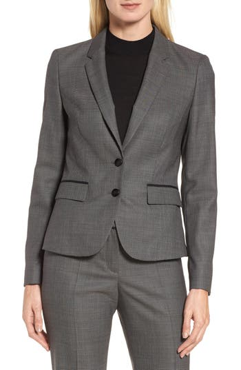 BOSS Jylana Stretch Wool Suit ..
