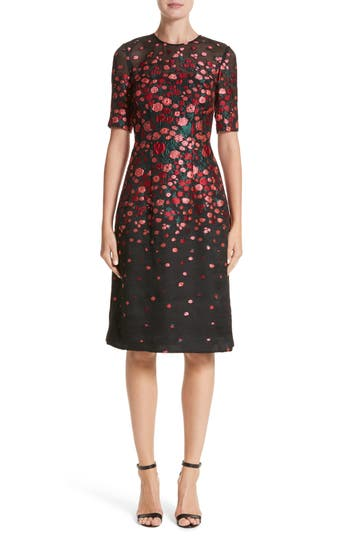 Holly Floral Matelassé A Line Dress by Lela Rose
