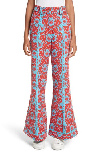 Richard Malone Floral Flare Trousers