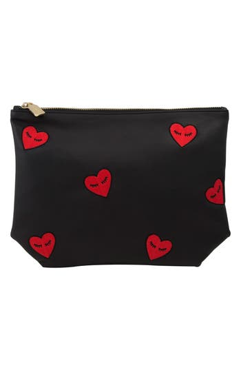 Sonix Fancy Hearts Faux Leather Everyday Pouch
