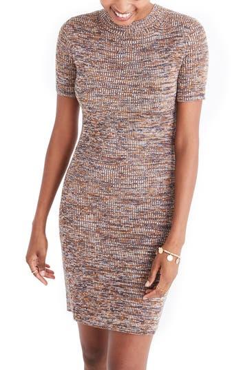 Madewell Marled Mock Neck Sweater Dress