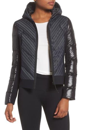 Blanc Noir Chevron Reflective Puffer Jacket