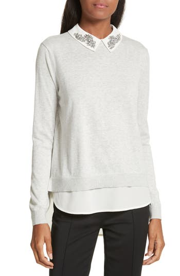 Ted Baker London Miriah Embellished Layer Look Sweater