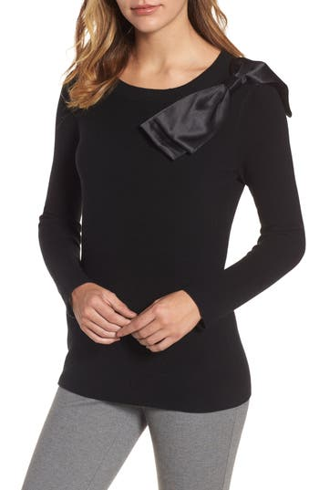 Emerson Rose Bow Shoulder Sweater