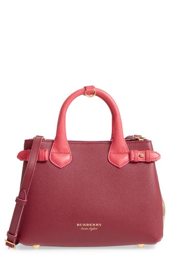 Burberry Small Banner � Derby House Check Leather Satchel