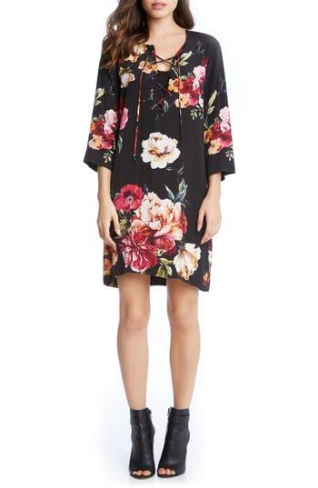 Karen Kane Floral Lace-Up Shift Dress
