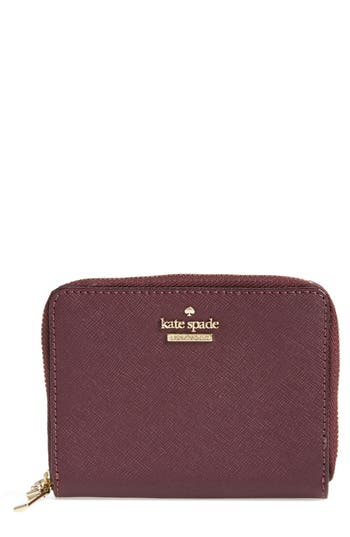 kate spade new york cameron street - lainie zip-around leather wallet