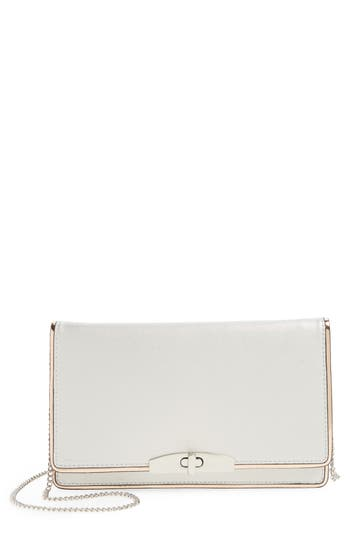 Cesca Metallic Crossbody Clutch