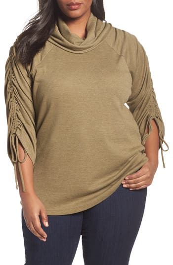 Sejour Drawstring Sleeve Tunic (Plus Size)