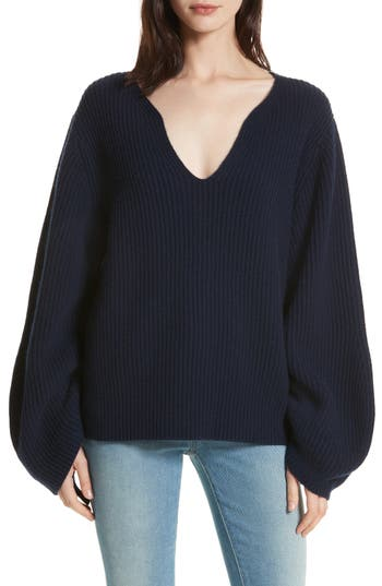 Brochu Walker Anneka Wool & Cashmere Puff Sleeve Sweater