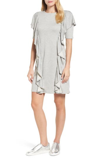 Halogen® Ruffle Sweatshirt Dress
