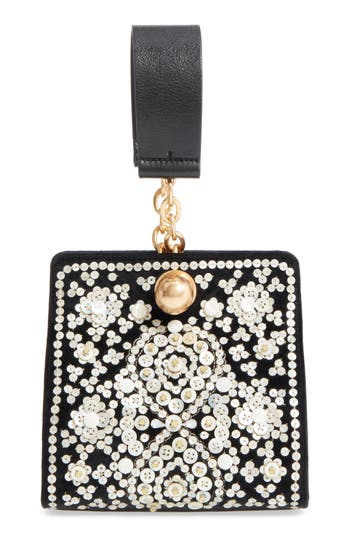 Tory Burch Dexter Embellished Leather Clutch
