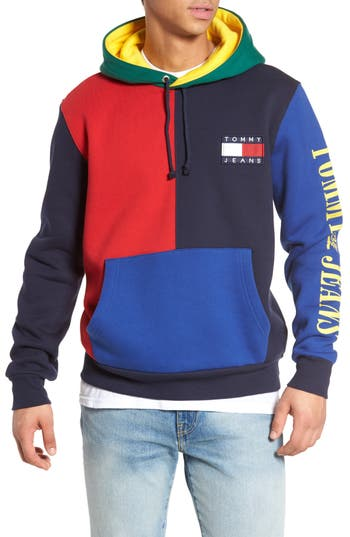 90s Colorblock Hoodie by Tommy Hilfiger