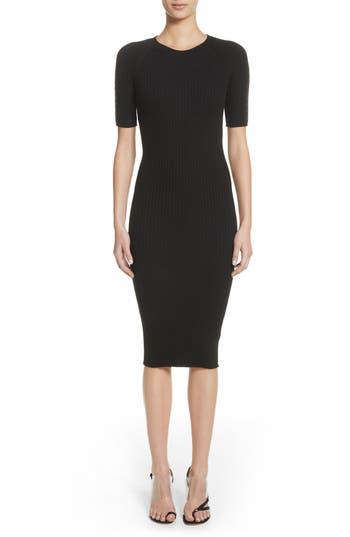 Pin Pierce Ribbed Body Con Dress by Alexander Wang