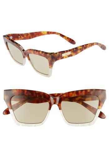 Half Half 54mm Cat Eye Sunglasses by Sonix