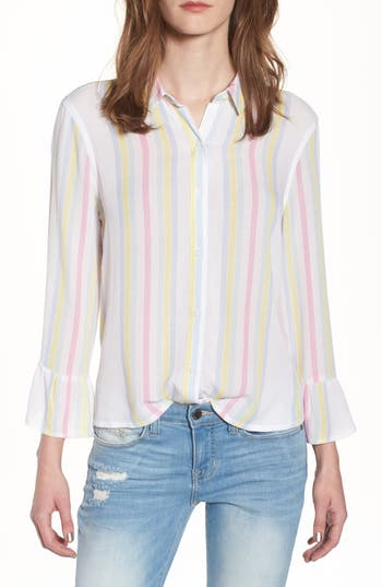 Stripe Bell Sleeve Top by Bp.