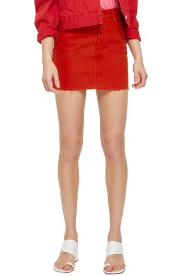 Fray Hem Miniskirt by Topshop