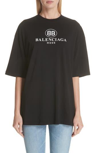 Bb Logo Oversize Tee by Balenciaga