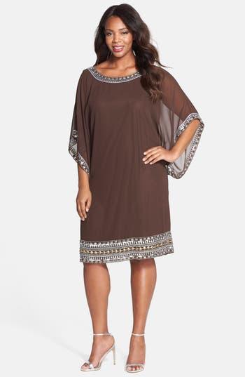 J Kara Embellished Chiffon Dress Plus Size Nordstrom