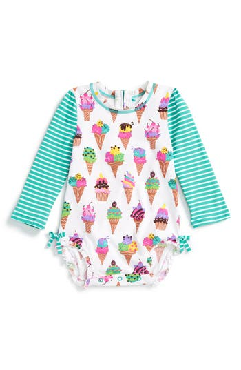 Hatley Ice Cream Print One Piece Rashguard Swimsuit Baby