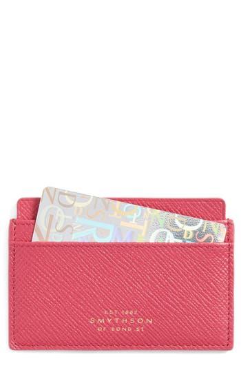 Smythson 'Panama' Leather Card Case