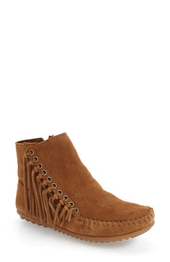 Minnetonka 'Willow' Fringe Bootie (Women)