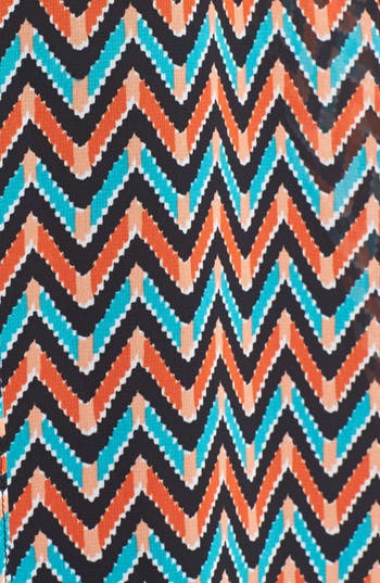Alternate Image 3  - Olivia Moon Print Chiffon Blouse (Plus Size)
