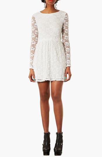 Main Image - Topshop Lace Skater Dress