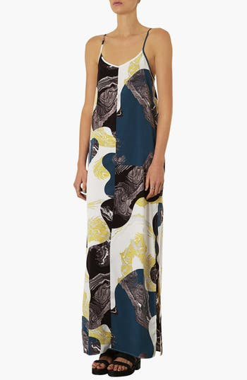 Alternate Image 1 Selected - Topshop Marble Print Maxi Dress