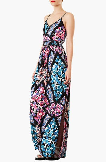 Alternate Image 1 Selected - Topshop 'Cutabout' Floral Maxi Dress