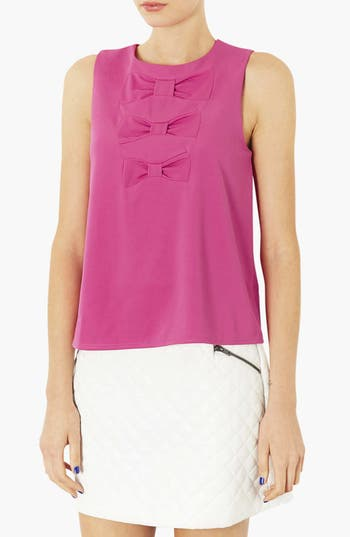 Alternate Image 1 Selected - Topshop Triple Bow Top