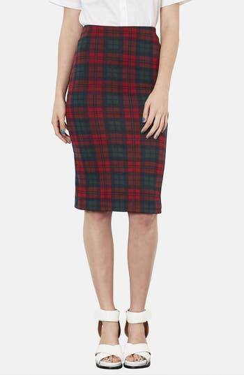 Main Image - Topshop Check Print Tube Skirt
