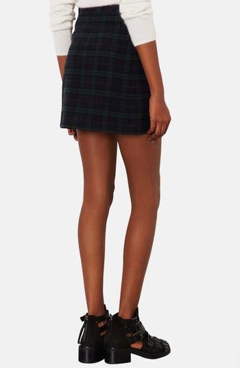 Alternate Image 2  - Topshop Mixed Media A-Line Skirt