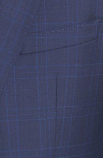 Alternate Image 5  - BOSS HUGO BOSS 'James/Sharp' Trim Fit Windowpane Suit