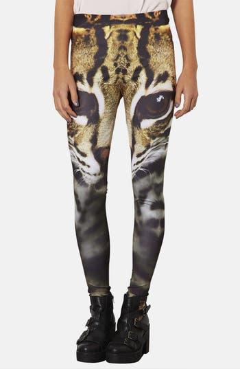 Alternate Image 1 Selected - Topshop Cat Face Leggings