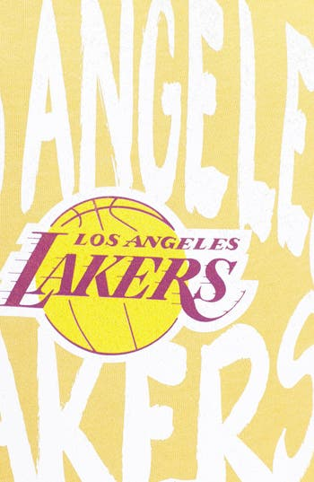 Alternate Image 3  - Sportiqe 'Los Angeles Lakers' Wide Neck Fleece Sweatshirt (Juniors) (Online Only)