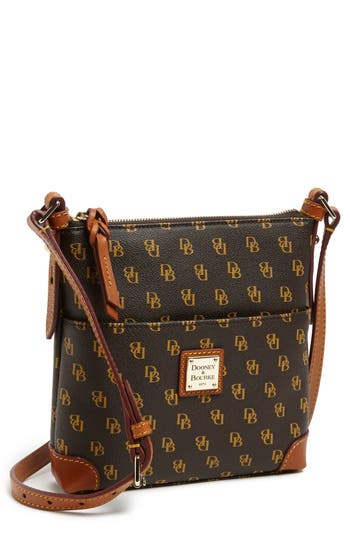 Dooney Amp Bourke Letter Carrier Logo Print Leather