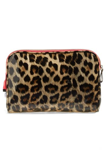 Alternate Image 2  - steph&co. 'Shiny Leopard' Large Cosmetics Case (Nordstrom Exclusive)