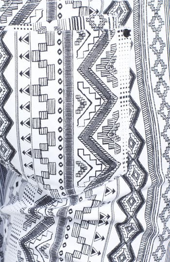 Alternate Image 3  - Fire Print Skinny Jeans (Black/White) (Juniors) (Online Only)