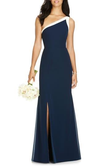 Social Bridesmaids One-Shoulder Chiffon Gown