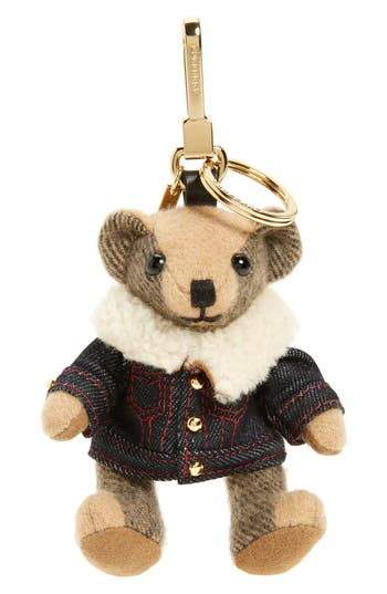 Burberry Thomas Bear Lambskin Trim Cashmere Bag Charm