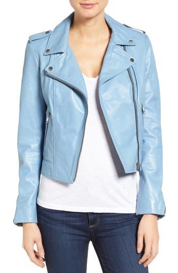LAMARQUE Donna Lambskin Leather Moto Jacket