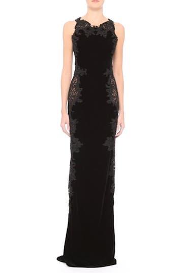 Embellished Tulle & Velvet Column Gown, video thumbnail
