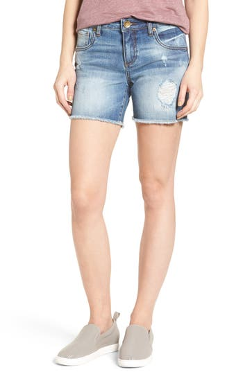 KUT from the Kloth Gidget Frayed Hem Denim Shorts